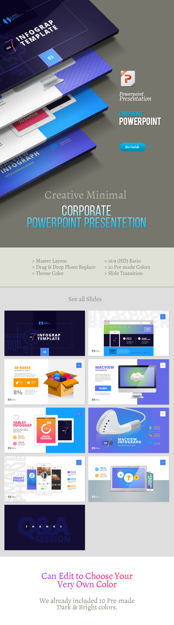 Infographic Powerpoint Template 2 - PowerPoint Templates Presentation Templates