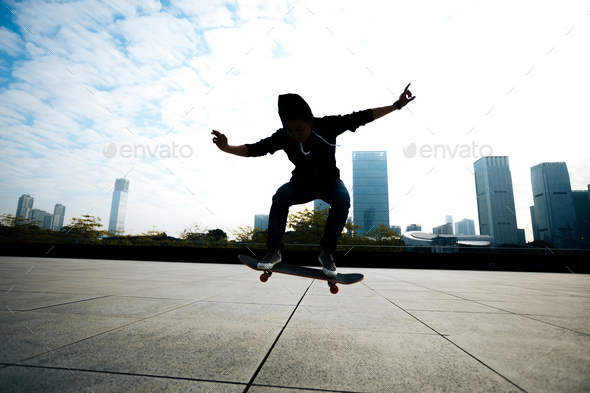 Ollie in city - Stock Photo - Images