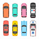 Different Cars Top View - GraphicRiver Item for Sale