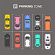 Top View of Parking zone - GraphicRiver Item for Sale