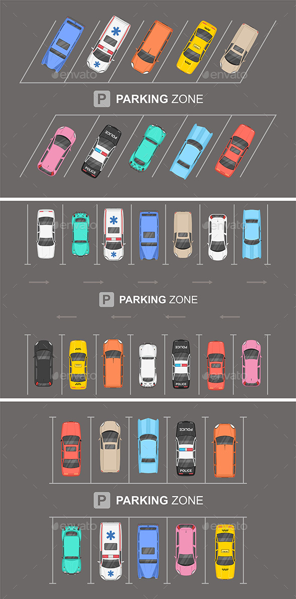 Top View of Parking zone - Miscellaneous Characters