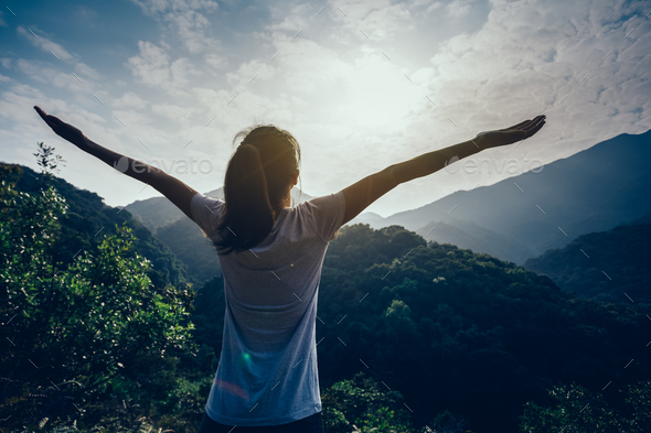 Breathing fresh air - Stock Photo - Images