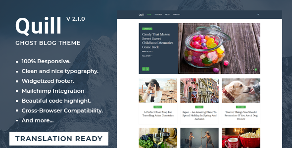 Quill - Minimal Blog And Magazine Ghost Theme - Ghost Themes Blogging