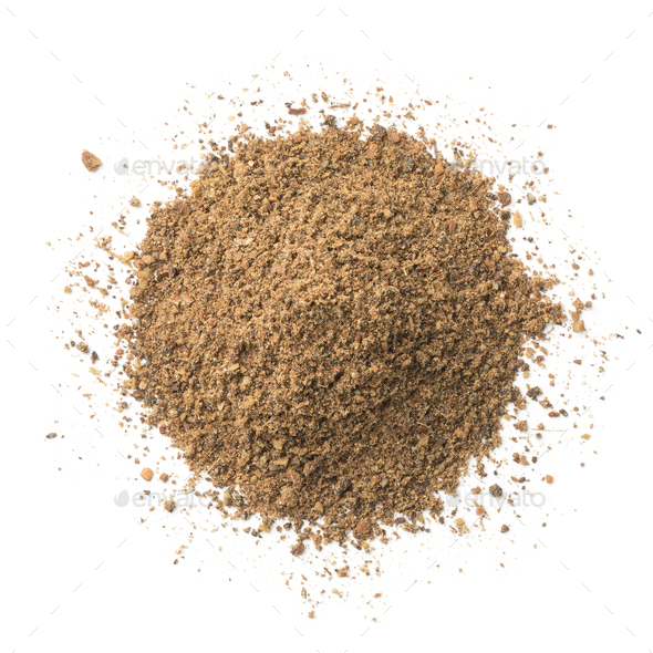 Heap of Moroccan Ras el Hanout powder - Stock Photo - Images