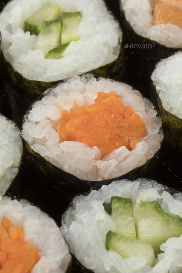 Traditional Japanese sushi maki - Stock Photo - Images