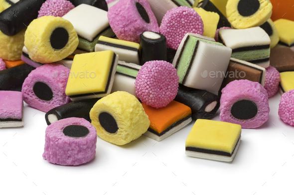 Heap of Liquorice allsorts - Stock Photo - Images