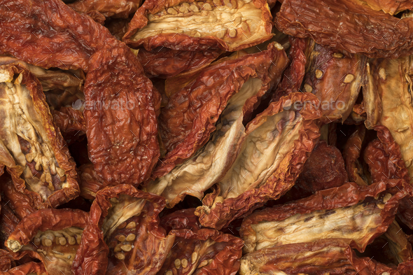 Sun dried tomatoes full frame - Stock Photo - Images