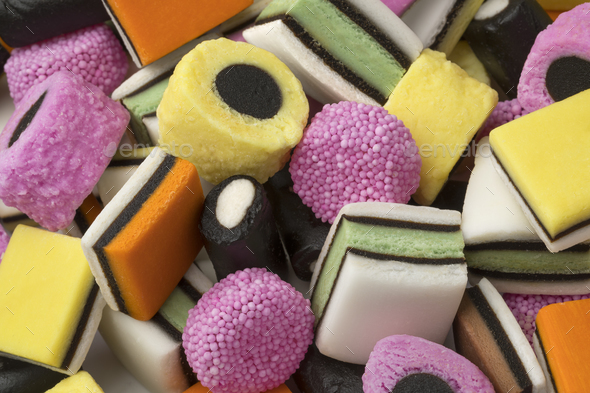 Heap of Liquorice allsorts - Stock Photo - Images