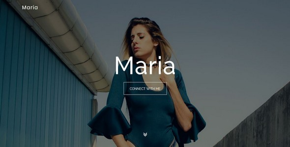 Image of Maria || Model / Designer Portfolio Template