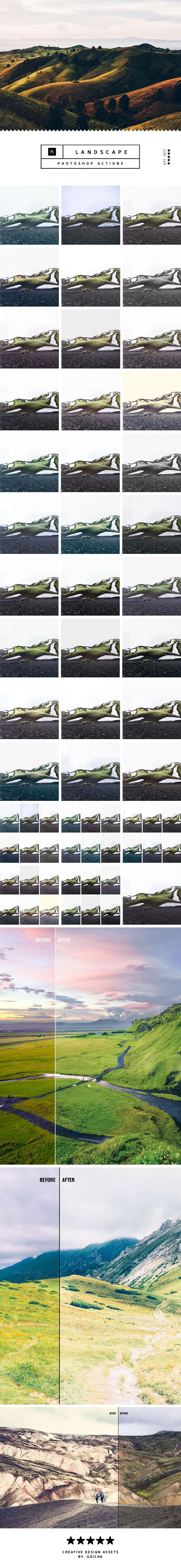 Landscape Photoshop Actions - Photo Effects Actions