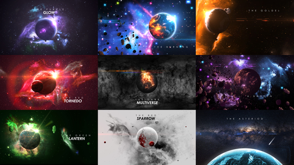 Planets (Space) After Effects Templates | F5-Design com