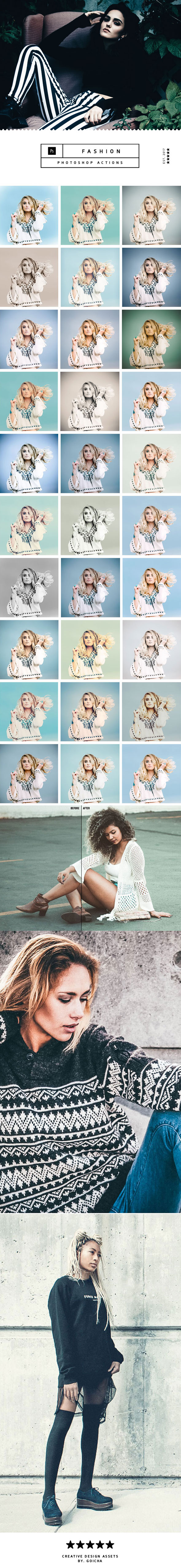 Fashion Photoshop Actions - Photo Effects Actions
