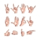 Set of Hands Showing Different Gestures - GraphicRiver Item for Sale