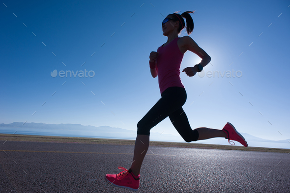 Running outdoors - Stock Photo - Images