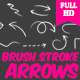 Brush Stroke Arrows - VideoHive Item for Sale