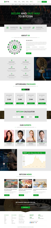 Bayya - Bitcoin Crypto Currency Template