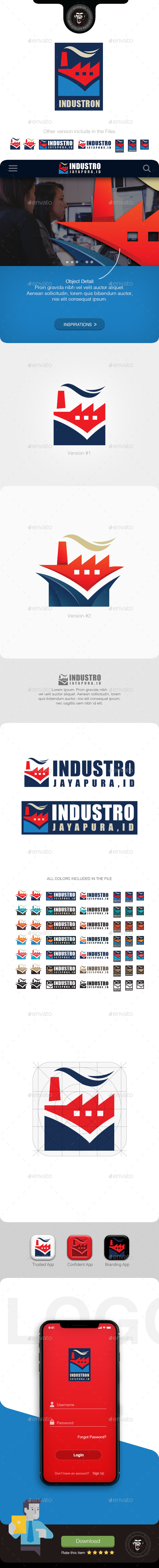 Industro Factory - Buildings Logo Templates