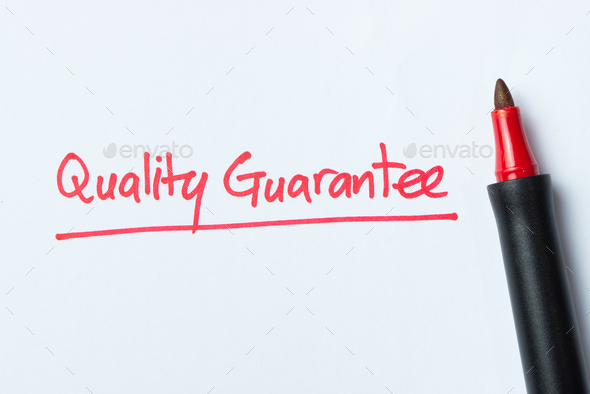 Handwriting of quality guarantee - Stock Photo - Images