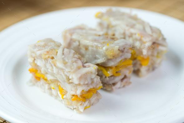 Homemade yam pumpkin cake - Stock Photo - Images