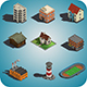 Low Poly Buildings And Places - 3DOcean Item for Sale