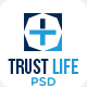 Trustlife - one page PSD Medical template - ThemeForest Item for Sale