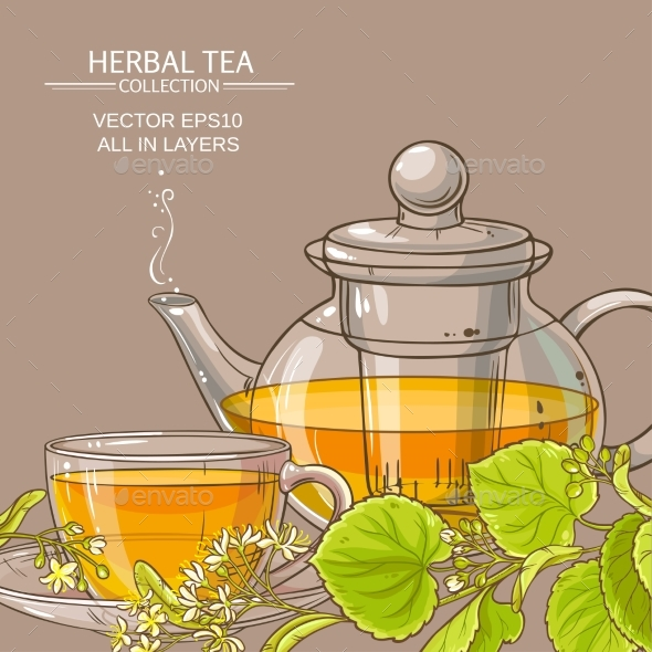 Linden Tea Vector Background - Health/Medicine Conceptual