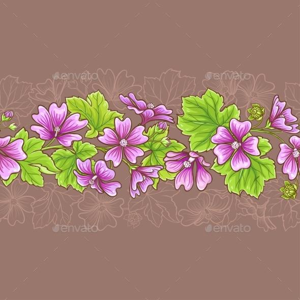 Malva Vector Pattern - Flowers & Plants Nature