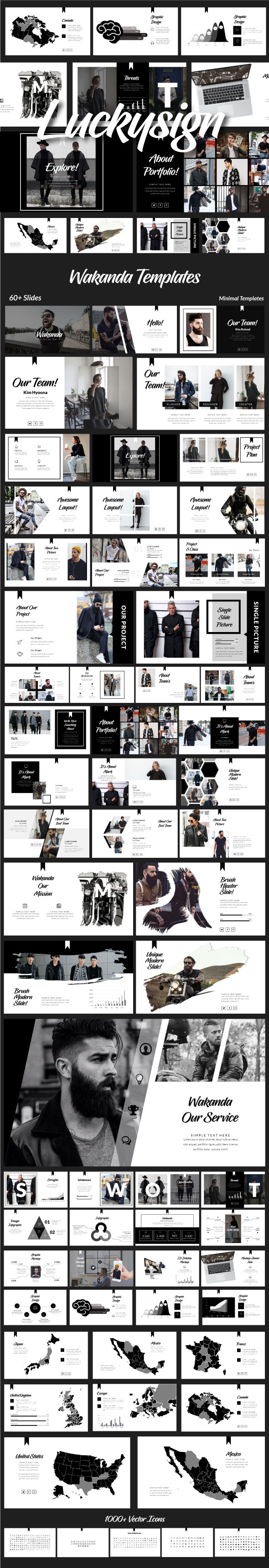 Wakanda - Presentation Templates - Business PowerPoint Templates