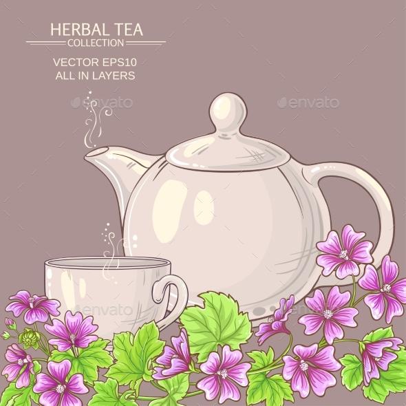 Malva Tea Illustration - Health/Medicine Conceptual