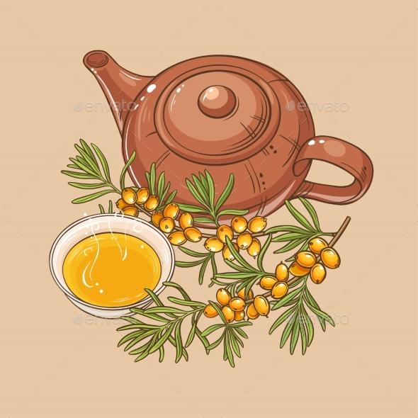 Sea Buckthorn Tea - Food Objects