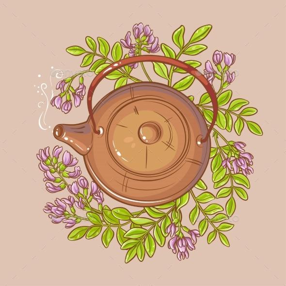 Astragalus Tea Illustration - Food Objects