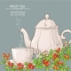 Cup of Cranberry Tea and Teapot