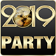 2019 New Year Party Flyers. 5 Different Styles. - GraphicRiver Item for Sale