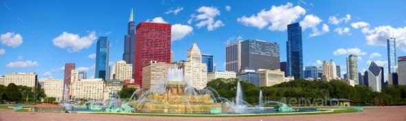 Chicago skyline panorama - Stock Photo - Images