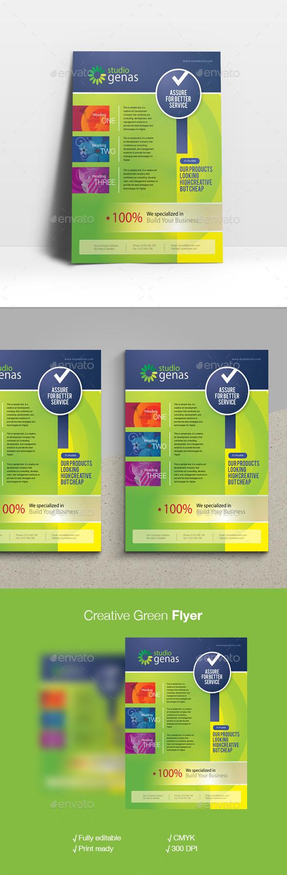 Creative Green Flyer - Corporate Flyers