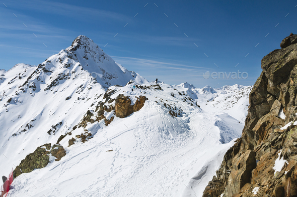 Oetztal Alps in Winter, Austria - Stock Photo - Images
