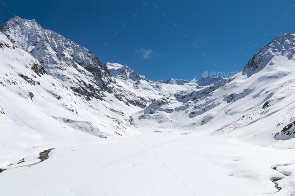 Winter High Valley In The Oetztal, Austria - Stock Photo - Images