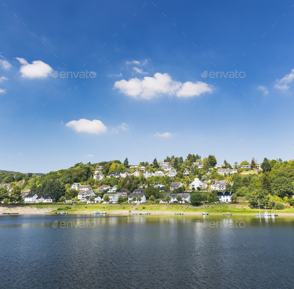 Rurberg at Lake Rursee, Germany - Stock Photo - Images