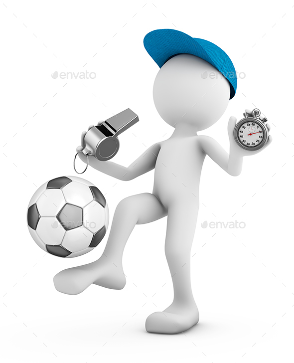 Man with a Soccer Ball - 3D Backgrounds