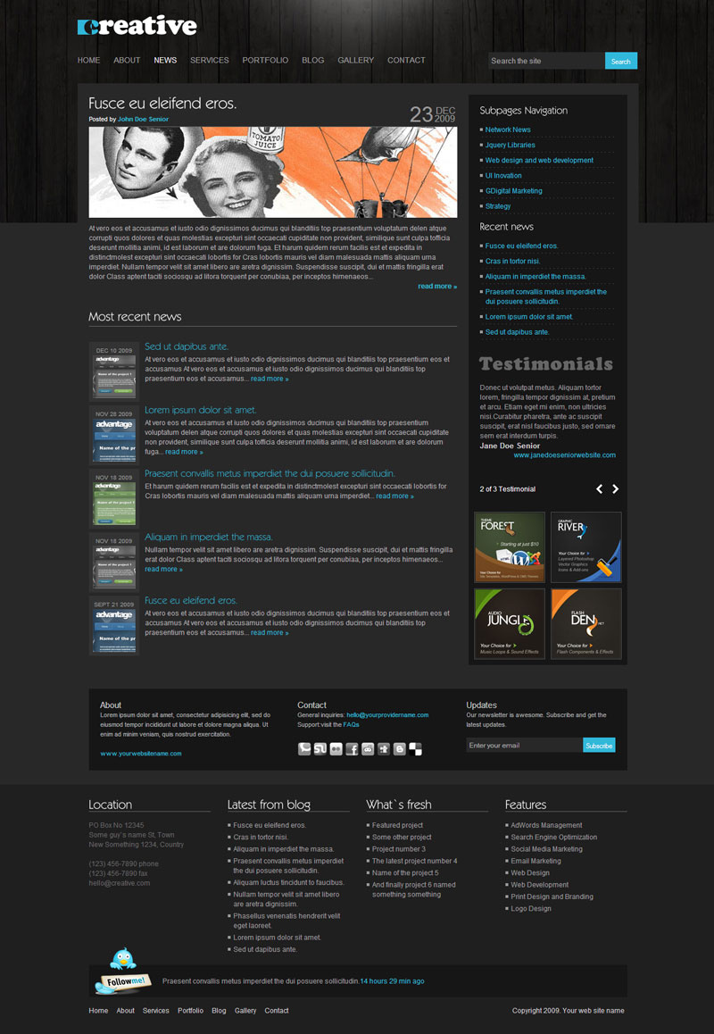 Creative clean portfoliobusiness theme 9 in 1 by brankic1979 creative clean portfoliobusiness theme 9 in 1 wajeb Gallery