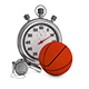 Basketball Whistle and Stopwatch - GraphicRiver Item for Sale