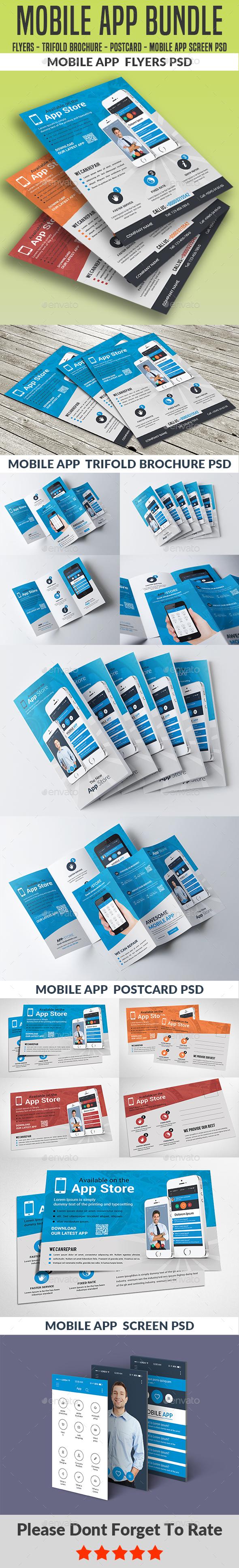 Mobile App Bundle - Corporate Flyers