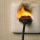 Fire in European Type Wall Socket - VideoHive Item for Sale