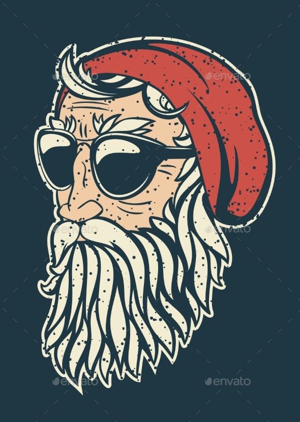 Hipster Santa Claus - Christmas Seasons/Holidays