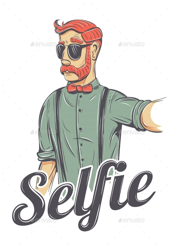 Selfie Hipster Illustration - Miscellaneous Vectors