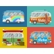 Four Hippie Vans - GraphicRiver Item for Sale