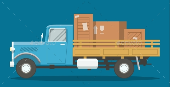 Flat Loaded Truck - Miscellaneous Vectors