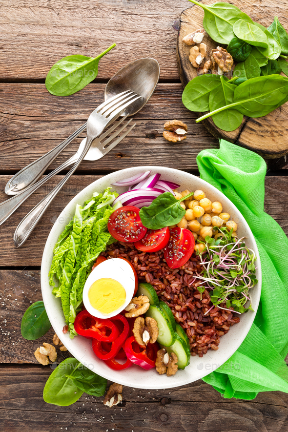 Buddha bowl dish - Stock Photo - Images