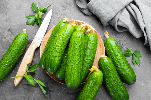 Fresh cucumbers - Stock Photo - Images
