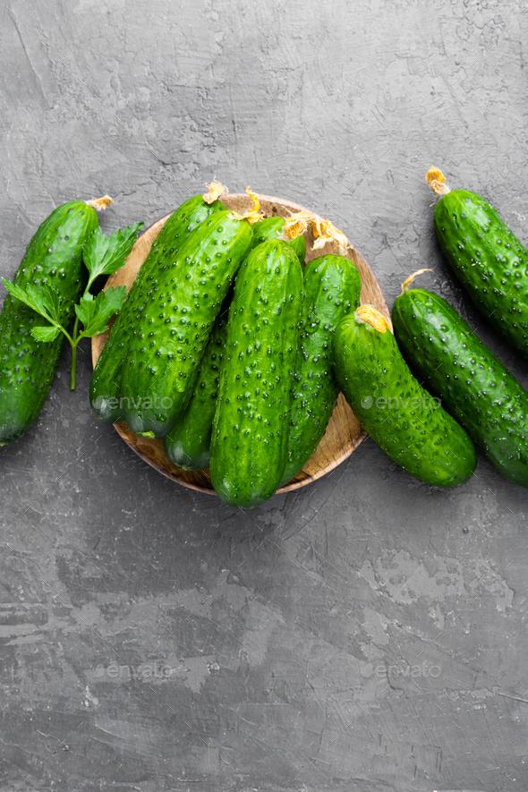 Fresh cucumbers - Stock Photo - Images